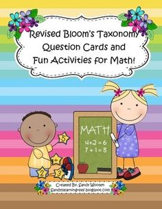 What a fun and easy way to implement Blooms Taxonomy in your classroom and make sure your students are being challenged in math!  These question cards are great because you can use them to discuss any word problem or math task during your whole group, small group, or partner discussions!
