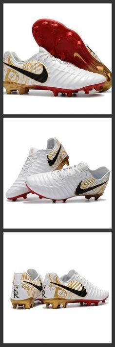 purchase cheap efe06 a7e4b Nike Tiempo Legend 7 FG Scarpe da calcio Uomo Bianco Oro Metallico Vivido