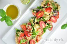 Tabbouleh z quinoi alebo bulguru - FitRecepty Bruschetta, Avocado Toast, Tofu, Quinoa, Fitness Tips, Vegan, Cooking, Breakfast, Ethnic Recipes