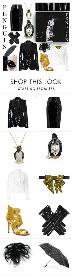 """""""My Penguin Style"""" by lady-madhatter ❤ liked on Polyvore featuring Dolce&Gabbana, Topshop Unique, Amanda Rose Collection, Judith Leiber, Gucci, Nicole Miller, Black and Totes"""