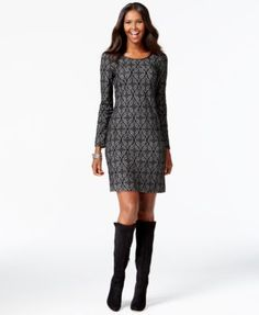 I wore this dress to my work holiday party with black boots, and loved the comfort plus style of it.