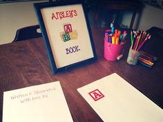 Make an ABC Book--Baby Shower Games--Build a Library Shower