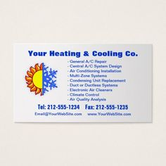 CUSTOMIZABLE Heating & Cooling Business Card