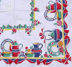 vintage novelty tablecloth