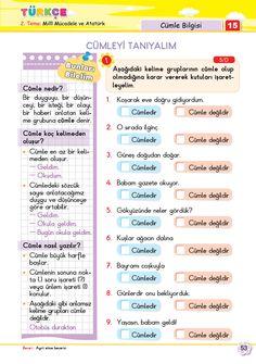 2. Sınıf Soru Bankası Türkçe Süper Kitap Turkish Language, Games For Kids, Kids And Parenting, Homework, Worksheets, Student, Education, Reading, Children