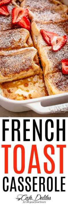 French Toast Casserole Cafe Delites French Toast Casserole Cafe Delites Source by cupcakescutlery Breakfast Dishes, Best Breakfast, Breakfast Recipes, Breakfast Pancakes, Breakfast Ideas, French Toast Bake, French Toast Casserole, Breakfast Casserole, Tostadas