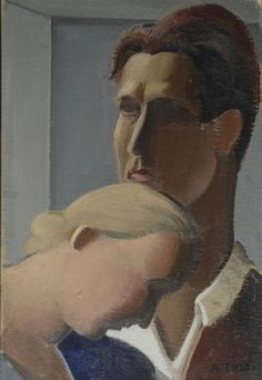 Tozzi Mario : Le peintre et sa femme  ((1927))  - Olio su cartone - Asta Arte Moderna e Contemporanea, Grafica ed Edizioni - Galleria Panant...