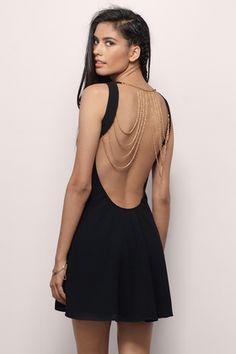 Wrap Dresses, Tobi, Black A Cinematic Secret Dress