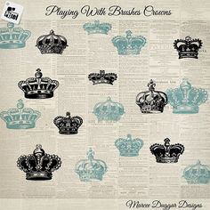 Vintage Crowns by Vintage Style Designs on @creativemarket