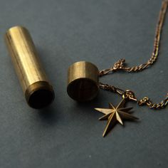 Brass North Star & Capsule Necklace | Jewelry Necklaces | Larissa Loden | Scoutmob Shoppe | Product Detail
