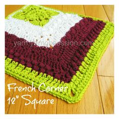 "French Corner 12"" Crochet Square 