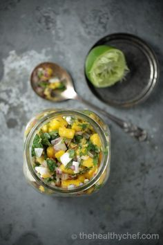 Mango Coconut Salsa | This aromatic salsa goes wonderfully well with just about anything - from white fish to poached organic chicken.