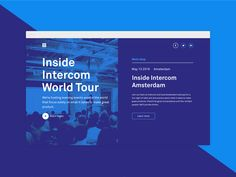 Inside Intercom World Tour case study by Frantisek Kusovsky #Design Popular #Dribbble #shots