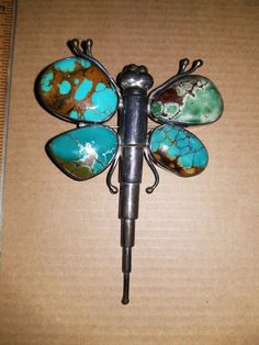 Turquoise Pendant, Turquoise Jewelry, Gemstone Jewelry, Silver Jewelry, Vintage Jewelry, Cowgirl Jewelry, Gypsy Jewelry, Ethnic Jewelry, Jewelry Box