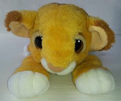 Disney Lion King Simba Lion Cub Toy Golden Yellow Soft Plush Stuffed Animal 10""
