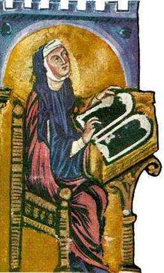 Hildegard von Bingen. A very famous saint whose recipes and ideas about health are still popular and widely used.