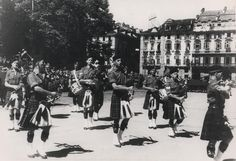 Transvaal Scottish Pipe Band  Turin, Italy June 1945