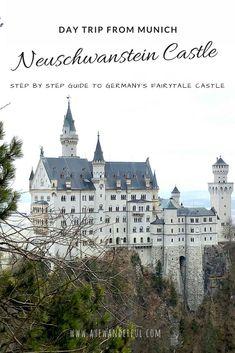 Neuschwanstein Castle | Germany | Day trip from Munich | Public Transport | Step by Step Guide | Read more on www.ayewanderful.com