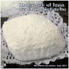 Makrout ellouz, une délicieuse recette qui ne demandera pas trop d'amande puisqu'ils contiennent de la farine et du flan pistache. Une version pas chère,