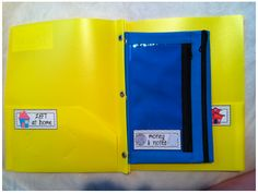 Keep Your Kiddos Organized! {Freebie} by A Cupcake for the Teacher :: I have used 3-ring binders for communication between home and school over the past several years with my 1st and 2nd graders, but they don't hold up very well. I think I am going to try this system for the new school year.