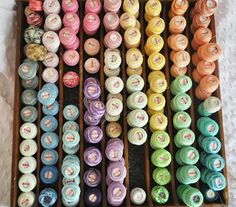 Tray full of Tatting Thread in Rainbow Colors.  I'm having a bit of fiber lust about now.