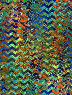 Artist Made Fabric Panel Abstract Chevron Fiber by jacquedesigns,