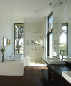 Modern bathroom with natural light