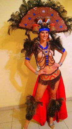ミスグランド2014のチリの民族衣装