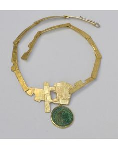 "Roman   Self soldering granulation Materials: 18k Gold, imperial Roman coin Dimension: 20""in length"