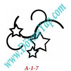 Yıldız Geçici Dövme Şablon Örneği Model No: A-1-7