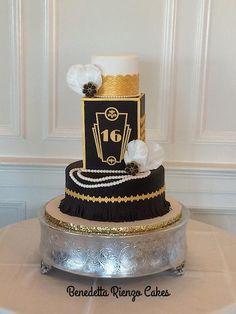 The Great Gatsby Sweet 16 - Cake by Benni Rienzo Radic
