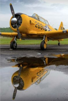 """""""Puddle Jumper"""" by Chris Buff, via really like the reflection shots like… Navy Aircraft, Ww2 Aircraft, Military Aircraft, Image Avion, Reflection Pictures, Reflection Photography, Aviation Art, Air Show, Vintage Motorcycles"""