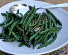 simple green bean recipe  I just cooked these tonight...they are really yummy and easy!! The whole family loved them!  Especially great with our green beans straight from the garden!