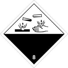 Señal peligros de clase 8 Materias corrosivas