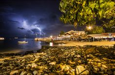 Cool photo of lightening in George Town, Grand Cayman