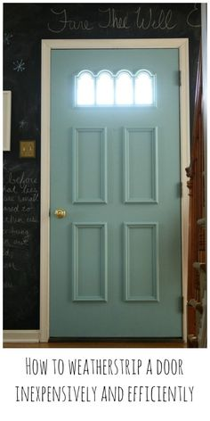 how to easily and inexpensively weatherstrip a door & Ingenious Window Insulation Tip! | Pinterest | Insulation Window ...