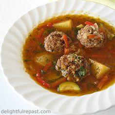 ... meatball soup sopa de albondigas de pollo chicken meatball soup