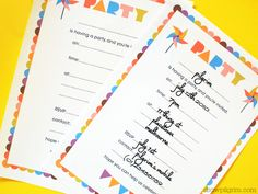 birthday printables from draw pilgrim for our spur-of-the-moment party