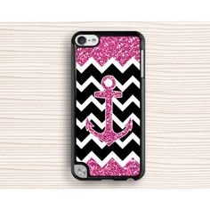 glittering ipod case,girl's ipod 5 case,gift ipod 4 case,anchor ipod 5 touch case,anchor and chevron ipod touch 4 case,touch 4 case,touch 5 case - IPod touch case