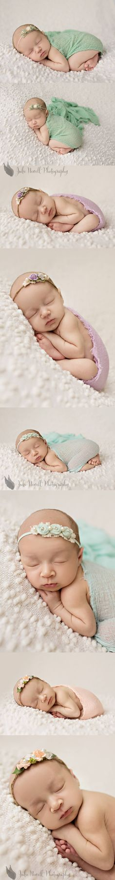 newborn- love the colors of her props...