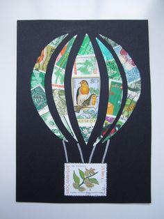 hot air balloon collage