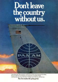 Pan Am Airlines Tail Logo Flies to 6 Continents Aviation 1968 Photo Ad Airline Logo, Airline Travel, Air Travel, Travel Ads, National Airlines, Vintage Travel Posters, Vintage Airline, Poster Vintage, Pan Am