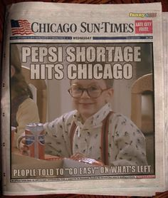 I have no idea how, when or why Chicago had a Pepsi shortage...