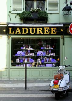 Laduree shop in Paris.  ASPEN CREEK TRAVEL - karen@aspencreektravel.com