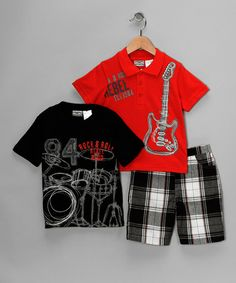 Little Rebels 'Rock and Roll' Tee Set on #zulily! #cutiestyle