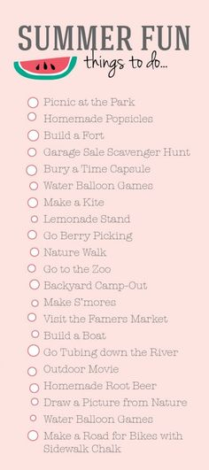 Summer To Do List from DesignLovesDetail.com!