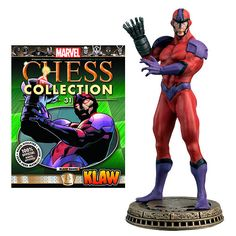 Marvel Klaw Black Pawn Chess Piece with Collector Magazine