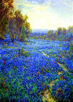 Onderdonk Julian Bluebonnet Scene 16 x 20 Canvas   eBay