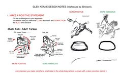 shiyoonkim on tumblr - Glen Keane design notes