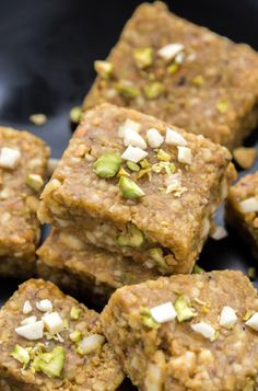 Easy and delicious pista badam burfi - a fudge made with pistachios, almond and ghee! This Indian sweet is perfect for any festive occasion! Holi Recipes, Sweets Recipes, Easy Desserts, Cooking Recipes, Diwali Recipes, Cooking Pork, Indian Dessert Recipes, Indian Sweets, Indian Snacks
